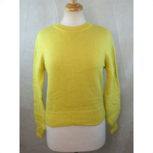 MAISON JULES Womens Sweater, XS, Ribbed Sleeves
